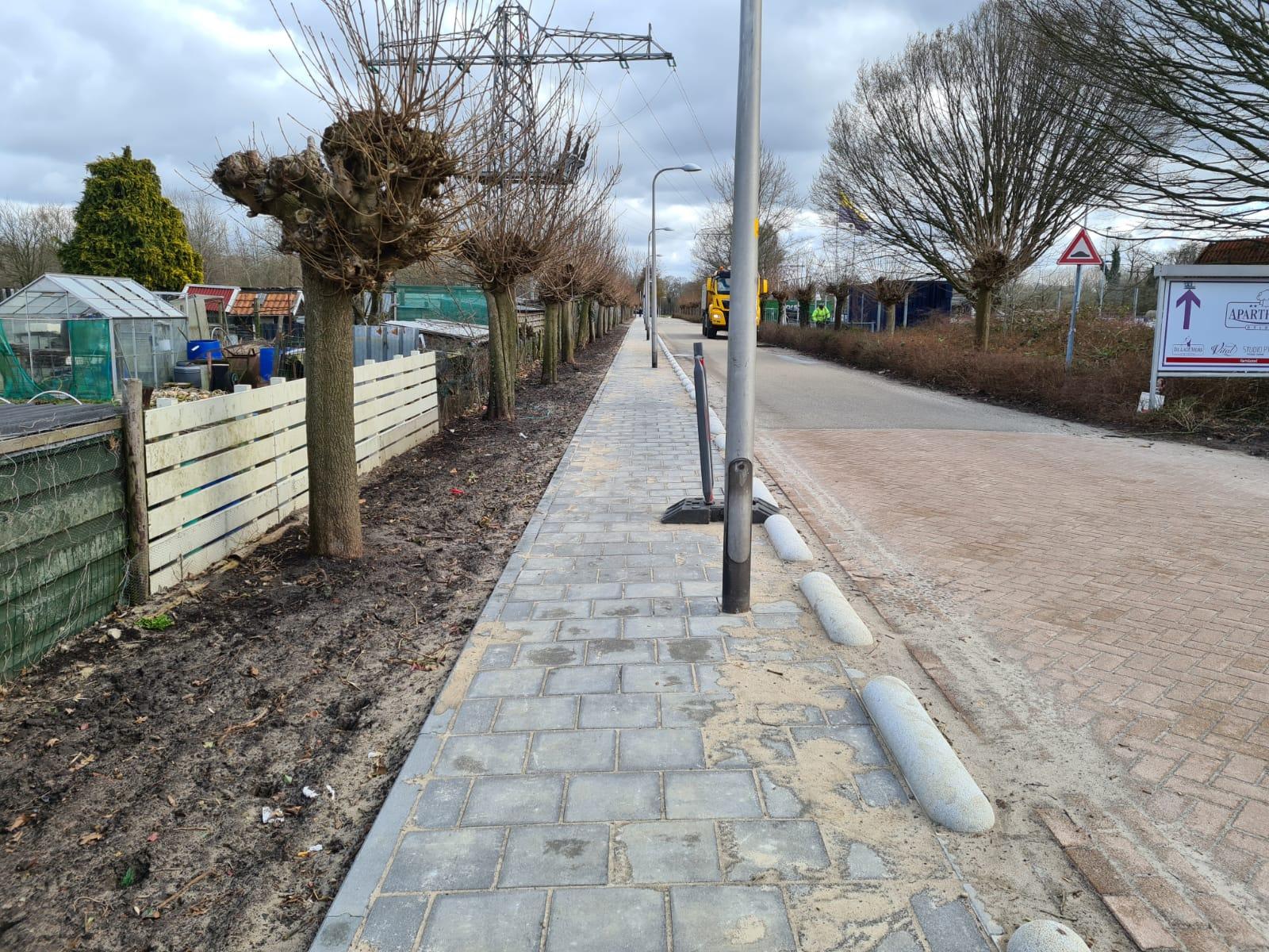 Voetpad aan Sportlaan Delden eindelijk aangelegd